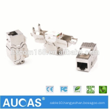 Factory Supplier Cat7 FTP 10GB Keystone Jack CE ROHS Approved Cat7 Modular Jack 8p8c Shield Toolless