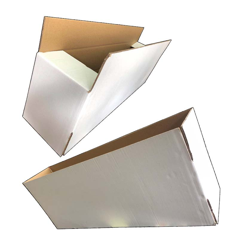 Five Layers Of White Cardboard Boxes
