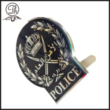 Enamel Police pin badge clips