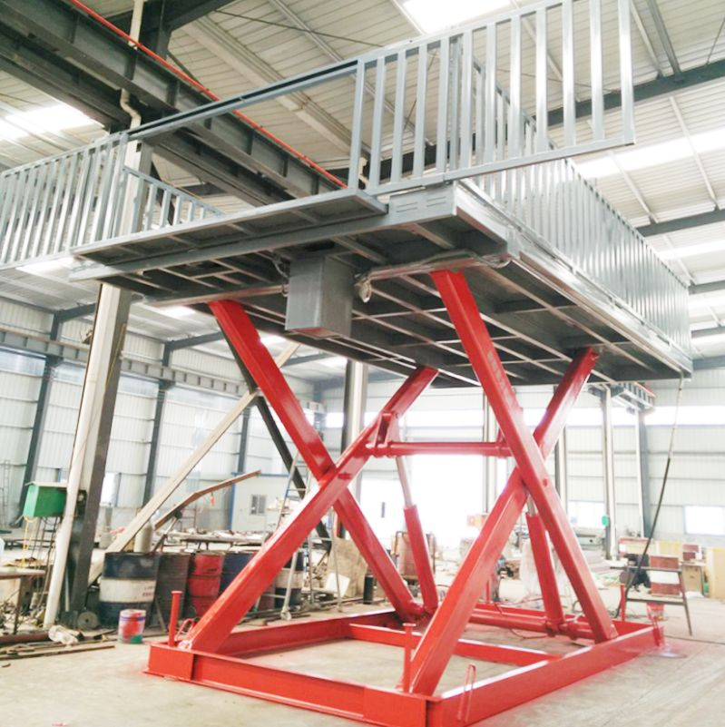 Ce Forklift Working Platform Container Mobile Loading Yard Ramps