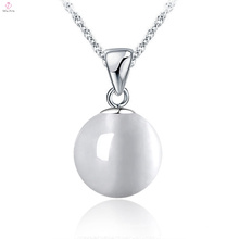 Mode 925 Sterling Silber Kette Opal Anhänger Schmuck