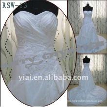 RSW-13 A-Line Drop Waist Side Draped Layered Wedding Dress