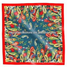 Women Scarf Shawl 100 Silk Paisley Printed Dubai Hijab