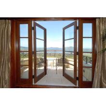 New Design Beautiful Wood Glass Balcony Door, French Door