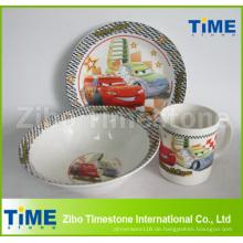 3PCS Keramik Kinder Porzellan Geschirr