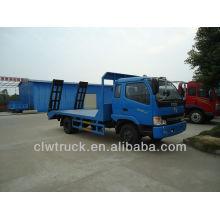 Venta caliente dongfeng flatbed camión camión, camión de transporte plano