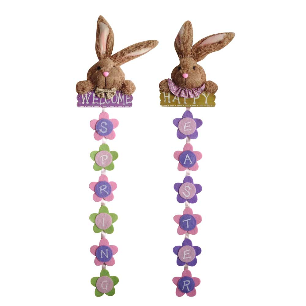 Easter 3d Rabbit Shape Wall Sign