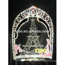 Concours de beauté vente chaude chateau princesse bijoux couronne tiare