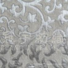 Окрашенная пряжа полиэфирная жаккардовая синель ткань для дивана