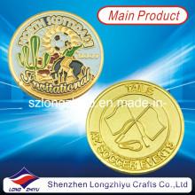 Souvenir-kundenspezifische Münzen-Medaille / Sport-Champion-Goldfußball-Abzeichen-Metallmünzen (LZY1300062)