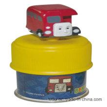 Venta al por mayor de colores personalizados de vinilo de PVC tren de Navidad dinero de plástico tren de caja de juguetes