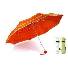 Schmetterlings-Druck 3 Falten Windproof Aluminium Regenschirm (YS-3FM21083944R)