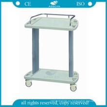 AG-LPT001A Carretilla de tratamiento médico de emergencia ABS de plástico con cajón
