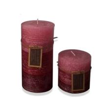 Multi-Colored decorative pillar candles