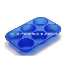 Molde do bolo da forma do redondo do gel do silicone (SE-299)