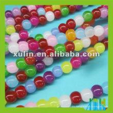 perlas de vidrio redondas arco iris