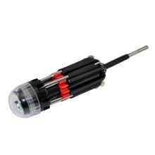 8 в 1 Multi отвертка со светодиодной Мощный фонарик факел