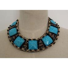 Ladeis moda charme zircão colar gargantilha colar (je0039-2)