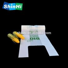 Saco de compras Saco de t-shirt biodegradável Saco compostável