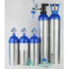 Cylindre d'oxygène médical en alliage d'aluminium