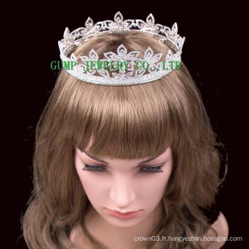 2016 New Flower Design Crystal Tiara Rhinestone Crown