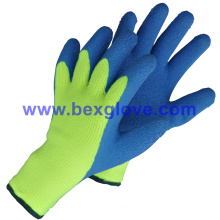 7 Gauge Acrylic Liner, Extra Thick Terry Knitted & Brushed, Latex Coating, Full Thumb Coating, Safety Gloves