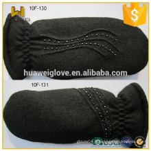 Gants de laine noire à la mode pour les femmes