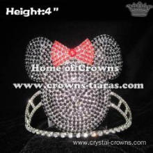 4in Crystal Rhinestone Minnie Pageant Crowns