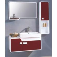 Muebles del gabinete de cuarto de baño del PVC de los 80cm (P-708)