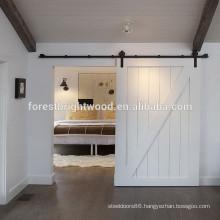 White Wood Strips Shock Absorber Sliding Door
