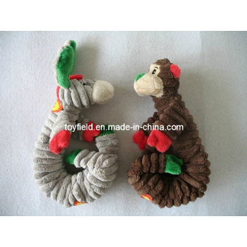 Elastic Dog Chew Toy Squeaker Donkey Dog Toy