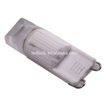 CE and ROHS ceramic base high power SMD G9 led light bulbs with silicone cover ,3 years warranty