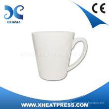Promocional 12oz Latte Ceramic Blank White CoffeeMug Mz