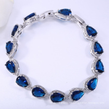 Brazalete de lágrima azul joyas inusuales