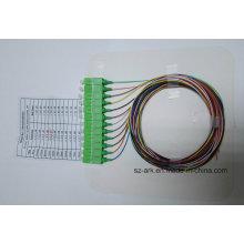 Sc / APC 12 Кодированный оптический волоконно-оптический пигтейл