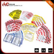 Elecpopular Productos más vendidos Colorido OEM Señales de advertencia de seguridad PVC Lockout Etiqueta industrial Etiquetas