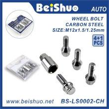 4 + 1PCS endurecem o parafuso da roda do sulco como a peça de automóvel