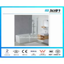 Gute Qualität Badewannen und Dusche mit flach gehärtetem Glas