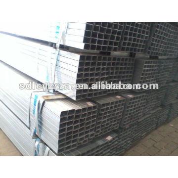 Q235B galvanisé carré en acier tube poids
