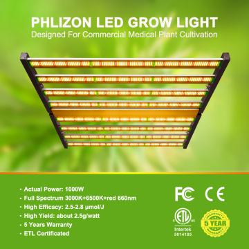 Phlizon 8 Bars 1000W LED Grow Light