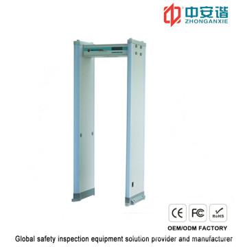 Alta Sensibilidad Edificios Comerciales Detector de Metales de Puerta con Doble Infrarrojo