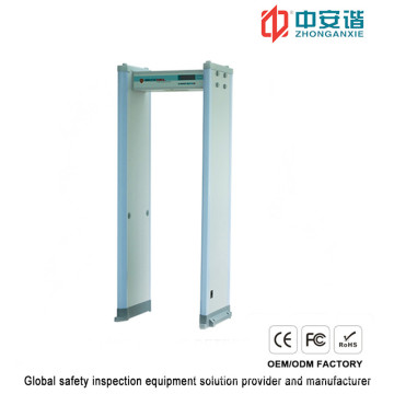 High Sensitivity Commercial Buildings Door Frame Metal Detector with Double Infrared