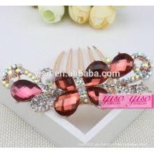 Venta al por mayor princesa verdaderos accesorios nupciales del pelo del diamante