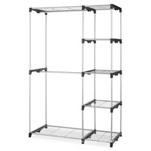 Double Rod Closet, Silver color clothes storage