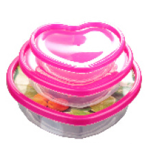 Récipient de nourriture en plastique de conception unique de 3PCS 2015