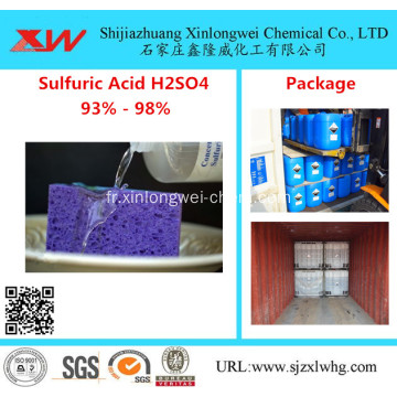 Acide sulfurique H2SO4 Qualité batterie 98% Acide sulfurique