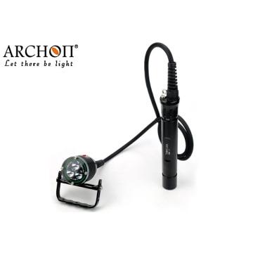 Подводный светодиодный фонарик для подводного плавания фонарик факел 100м водонепроницаемый фонарик