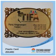 Embossing Metal Name Cards or Visiting Card Sample Business Card