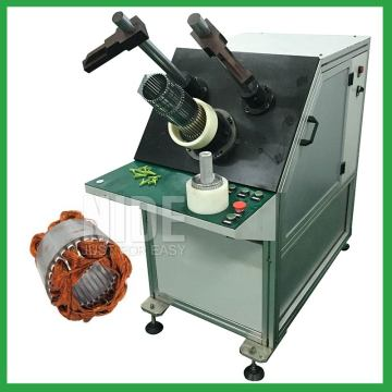 Economic type induction motor stator coil insertion machine