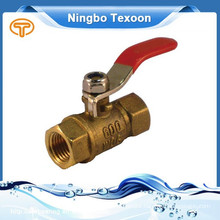 191-T Brass Mini Ball Valve compression and thread ends red handle